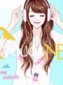 zenehallgató lány